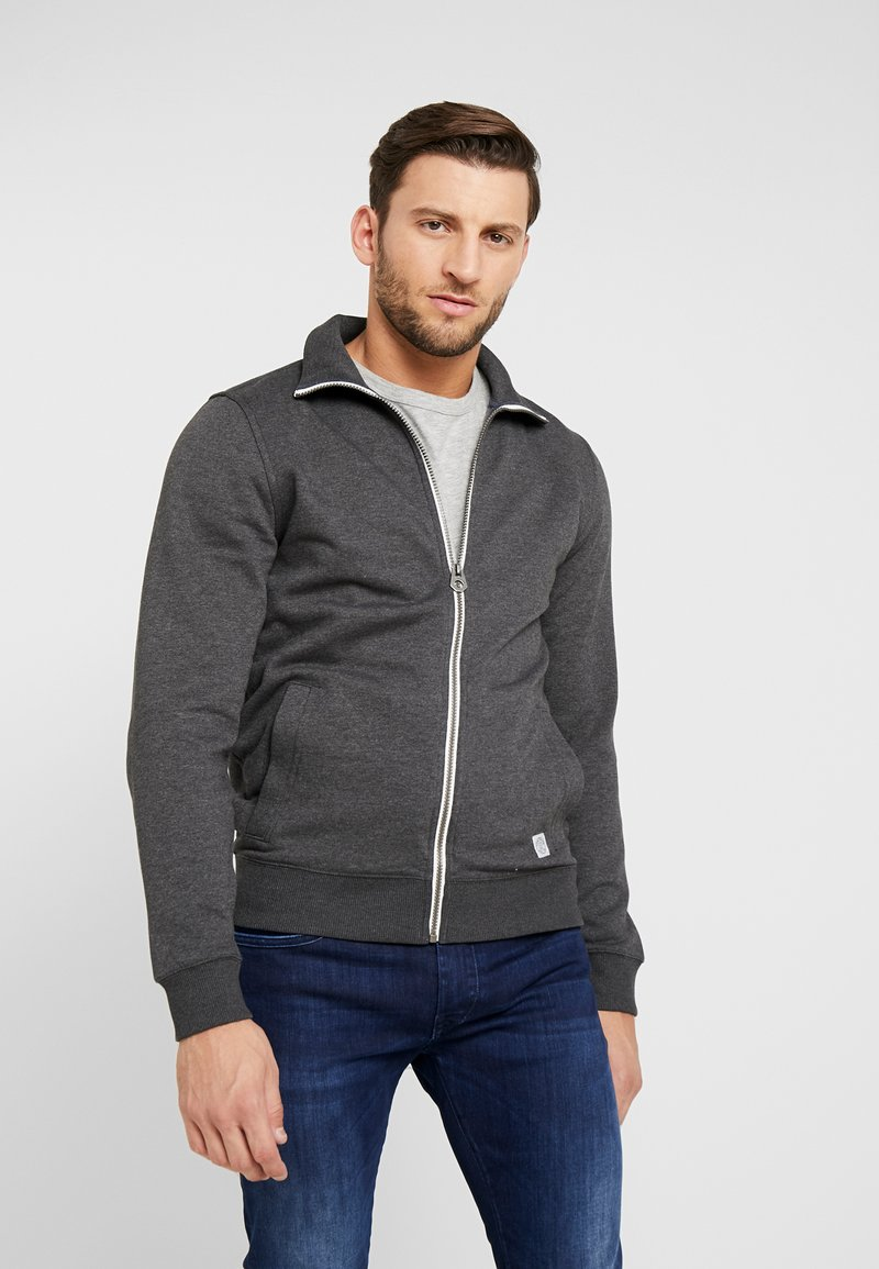 TOM TAILOR - Zip-up hoodie - black grey melange