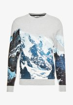 CREW NECK WITH MOUNTAIN  - Sweatshirt - middle grey melange