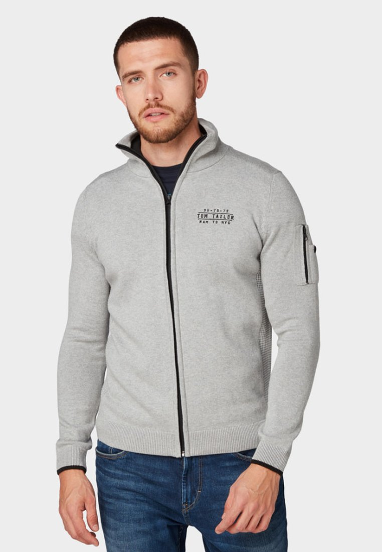 TOM TAILOR - Sweatjacke - grey heather melange