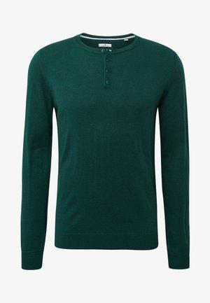 MIT HENLEY KRAGEN - Sweater - green