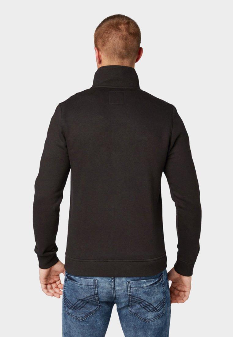 Tom StehkragenVeste Sweat Mit Black Tailor Zippée En 0N8Ovnwm