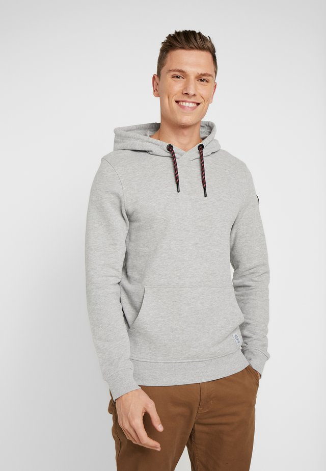 SPORTY BASIC HOODIE - Jersey con capucha - middle grey melange