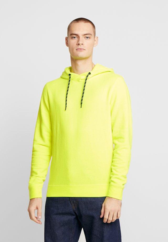 HOODY  - Jersey con capucha - bright neon yellow