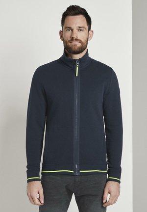 MIT STEHKRAGEN - veste en sweat zippée - sky captain blue