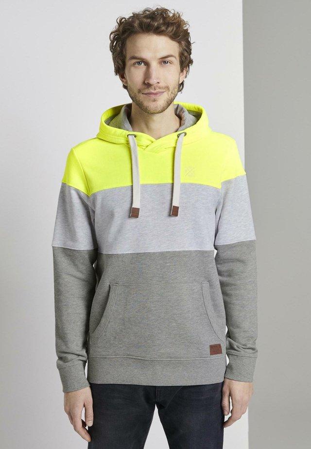 Jersey con capucha - neon yellow
