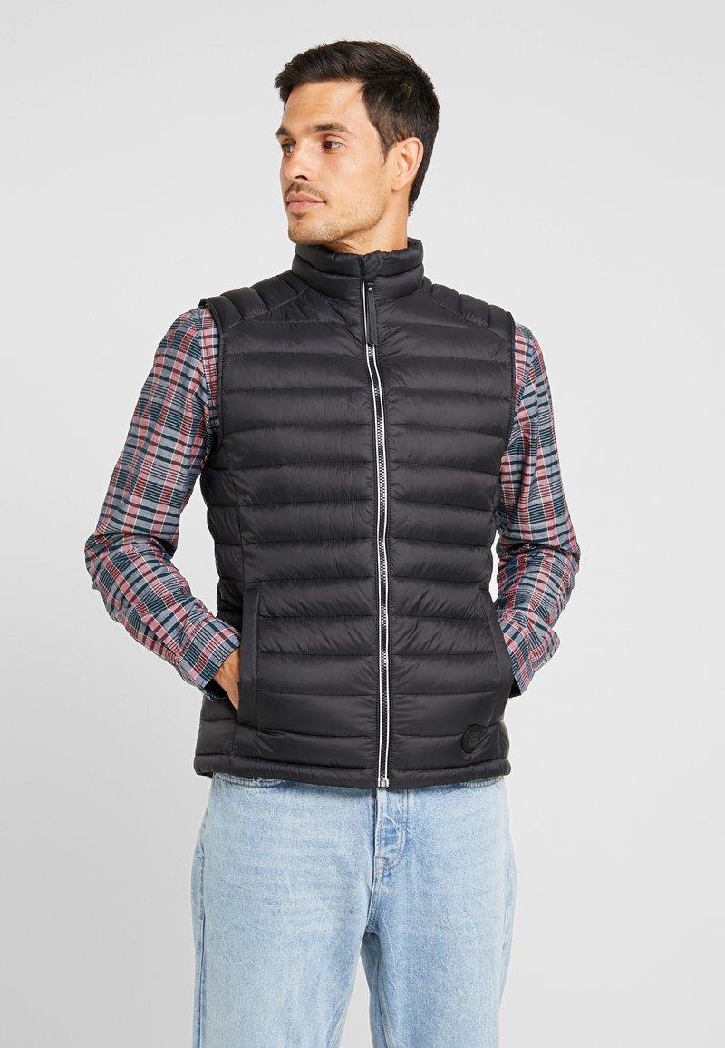 TOM TAILOR - Vest - black/grey