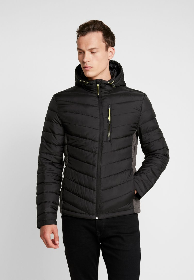 TOM TAILOR - LIGHT WEIGHT JACKET WITH HOOD - Light jacket - black