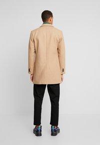 TOM TAILOR - WOOL COAT IUTTONS - Halflange jas - beige wool structure - 2