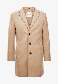 TOM TAILOR - WOOL COAT IUTTONS - Halflange jas - beige wool structure - 4