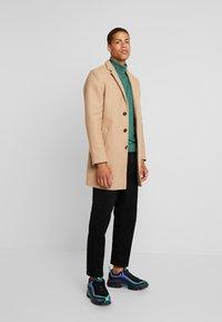 TOM TAILOR - WOOL COAT IUTTONS - Halflange jas - beige wool structure - 1