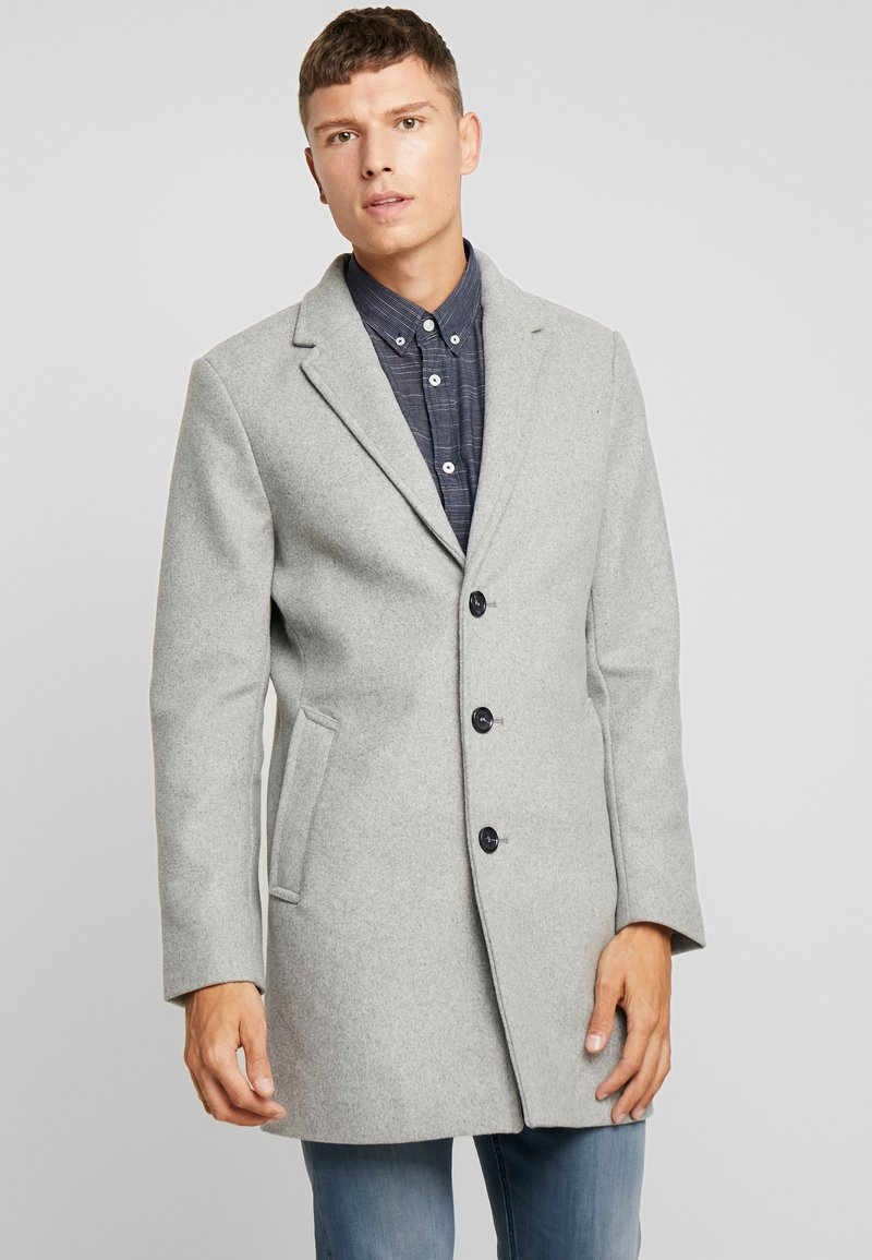 TOM TAILOR - WOOL COAT IUTTONS - Kurzmantel - light grey