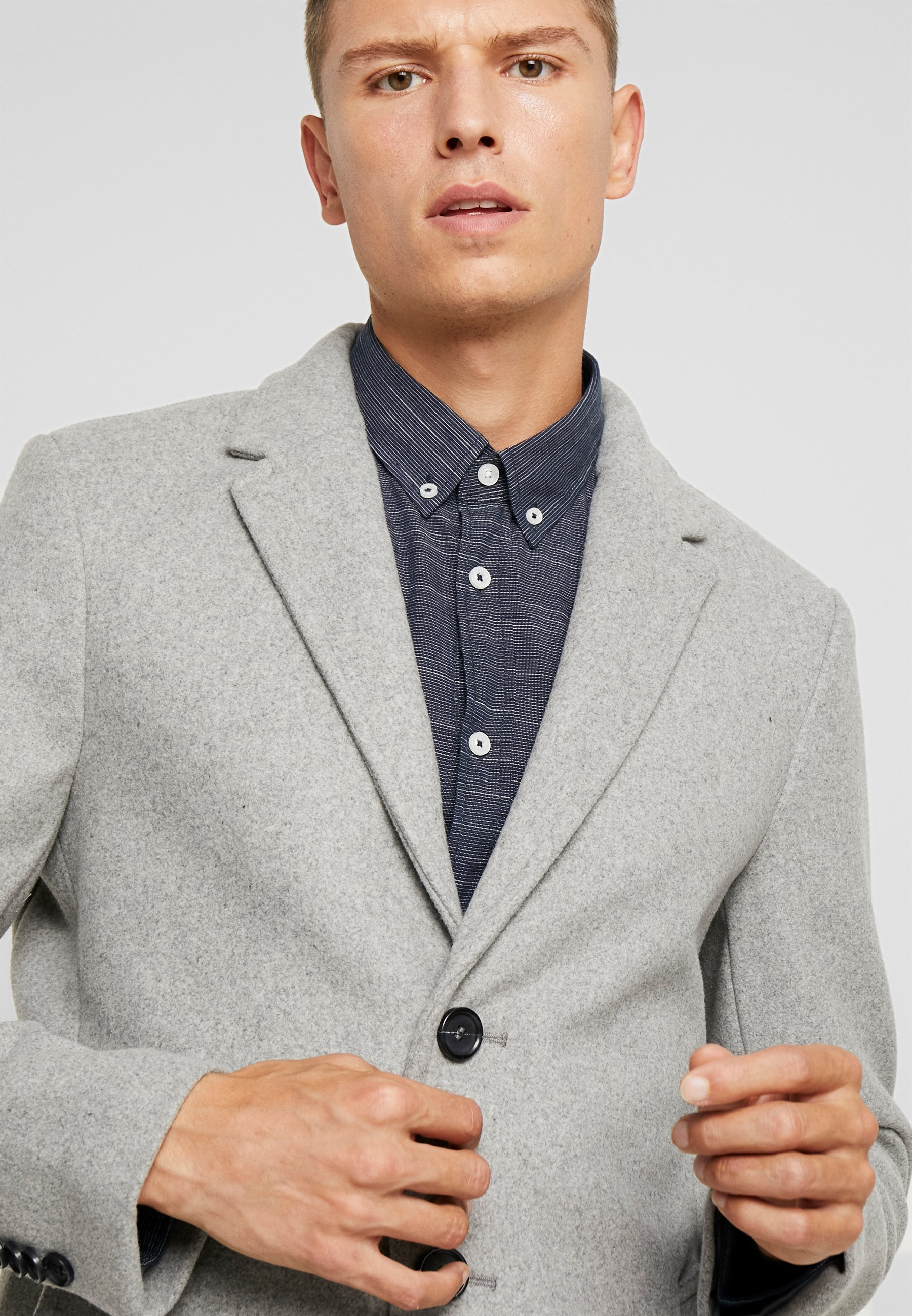 Wool Light Grey Tailor Corto Tom IuttonsCappotto Coat n0OwkP