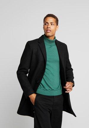 WOOL COAT IUTTONS - Short coat - black