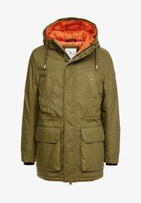 TOM TAILOR - Winter coat - olive drap green - 4