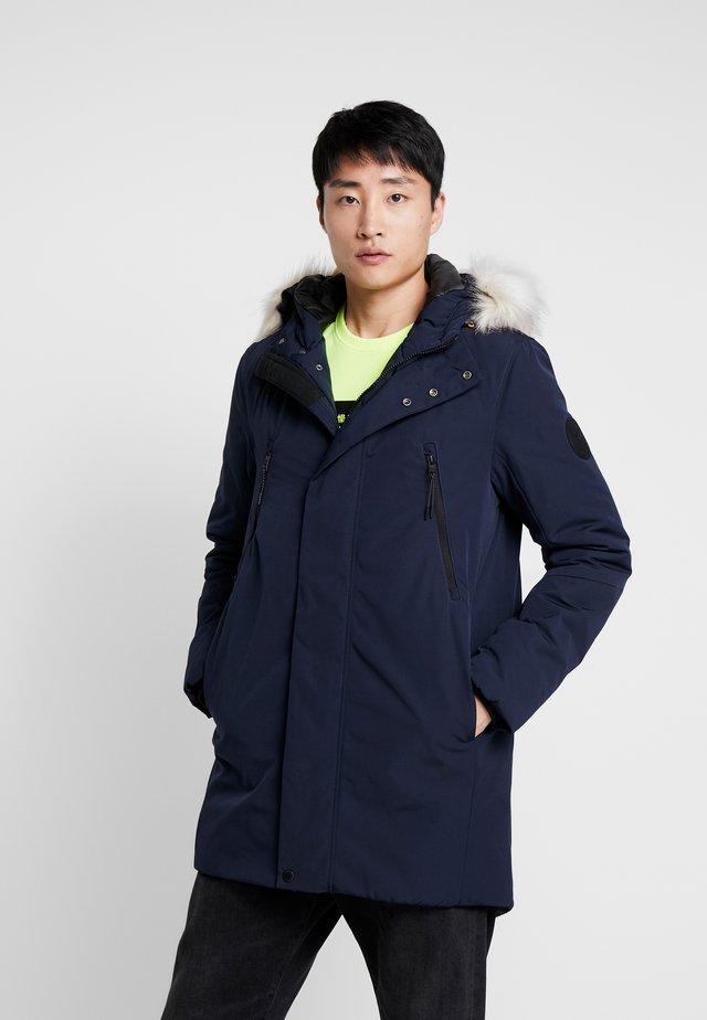 WITH HOOD - Parka - sky captain blue