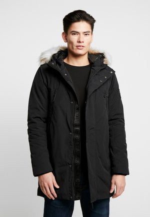 WITH HOOD - Parka - black
