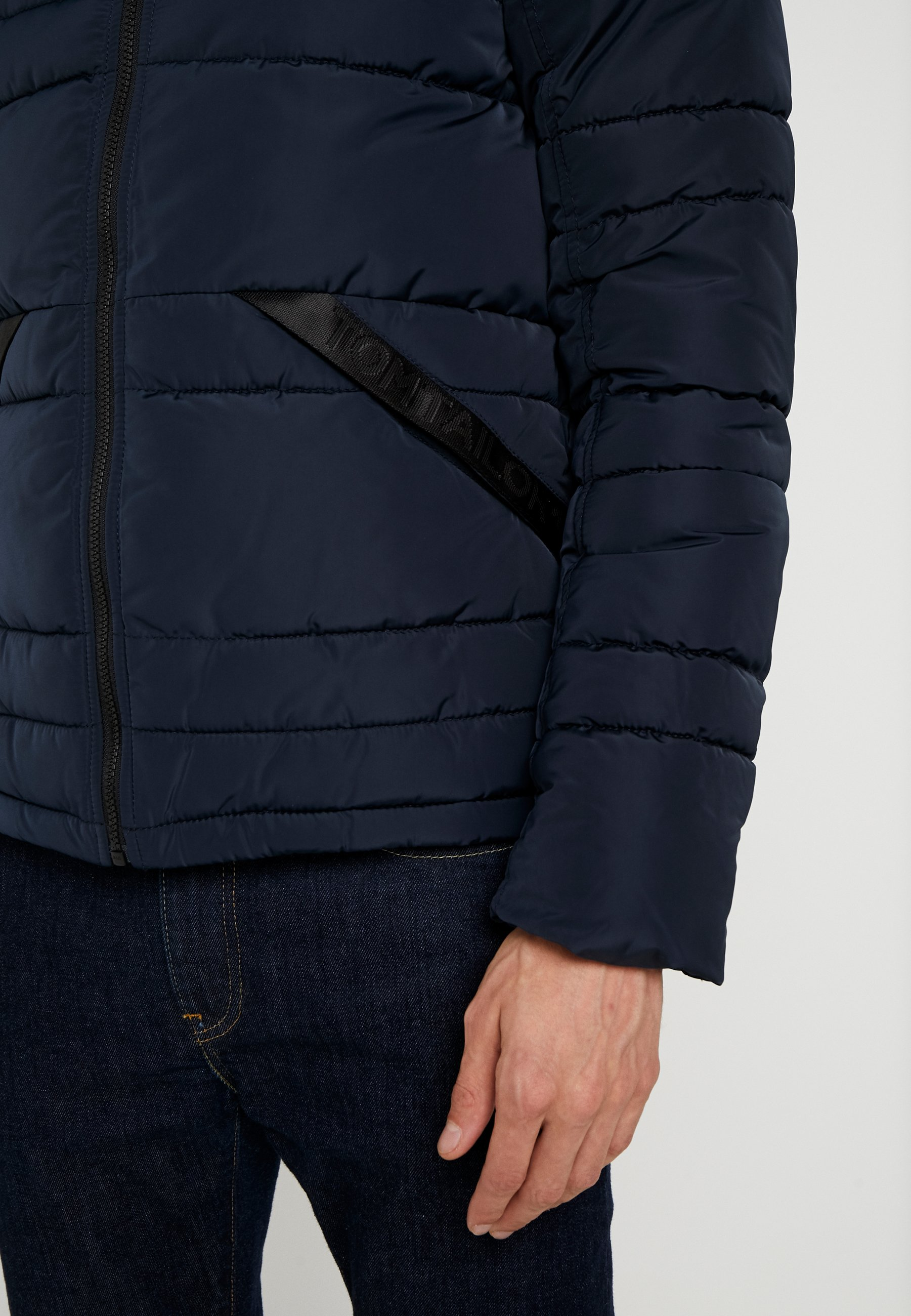 TOM TAILOR PUFFER JACKET WITH HOOD - Giacca invernale - sky captain blue