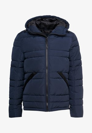 PUFFER JACKET WITH HOOD - Zimní bunda - sky captain blue