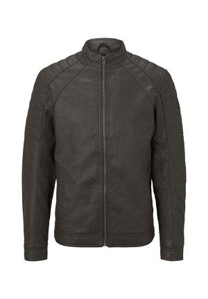 BIKER - Imitatieleren jas - dark chocolate leather brown