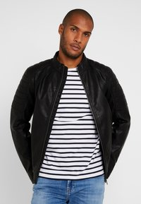 TOM TAILOR - BIKER - Imitatieleren jas - black - 0