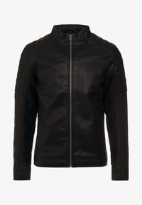 TOM TAILOR - BIKER - Imitatieleren jas - black - 4