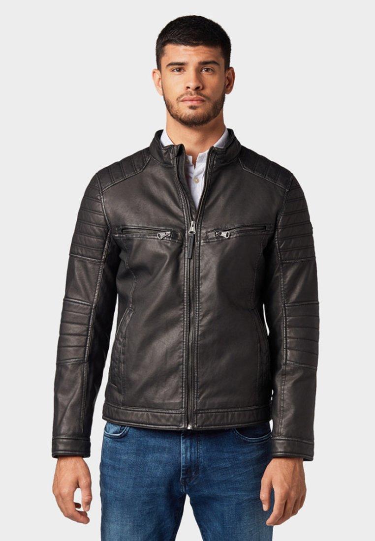 TOM TAILOR - Imitatieleren jas - black