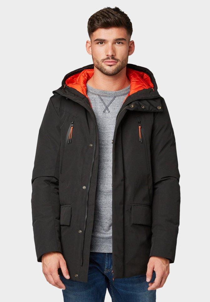 TOM TAILOR - JACKEN & JACKETS - Light jacket - black