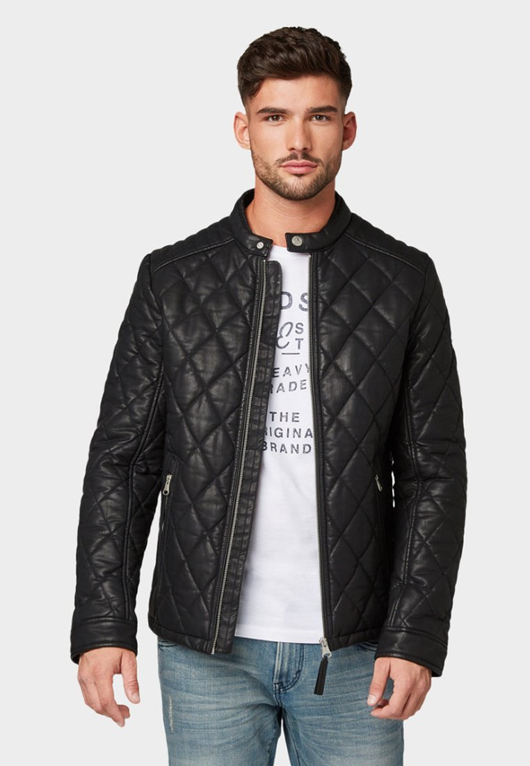 TOM TAILOR - Kunstlederjacke - black