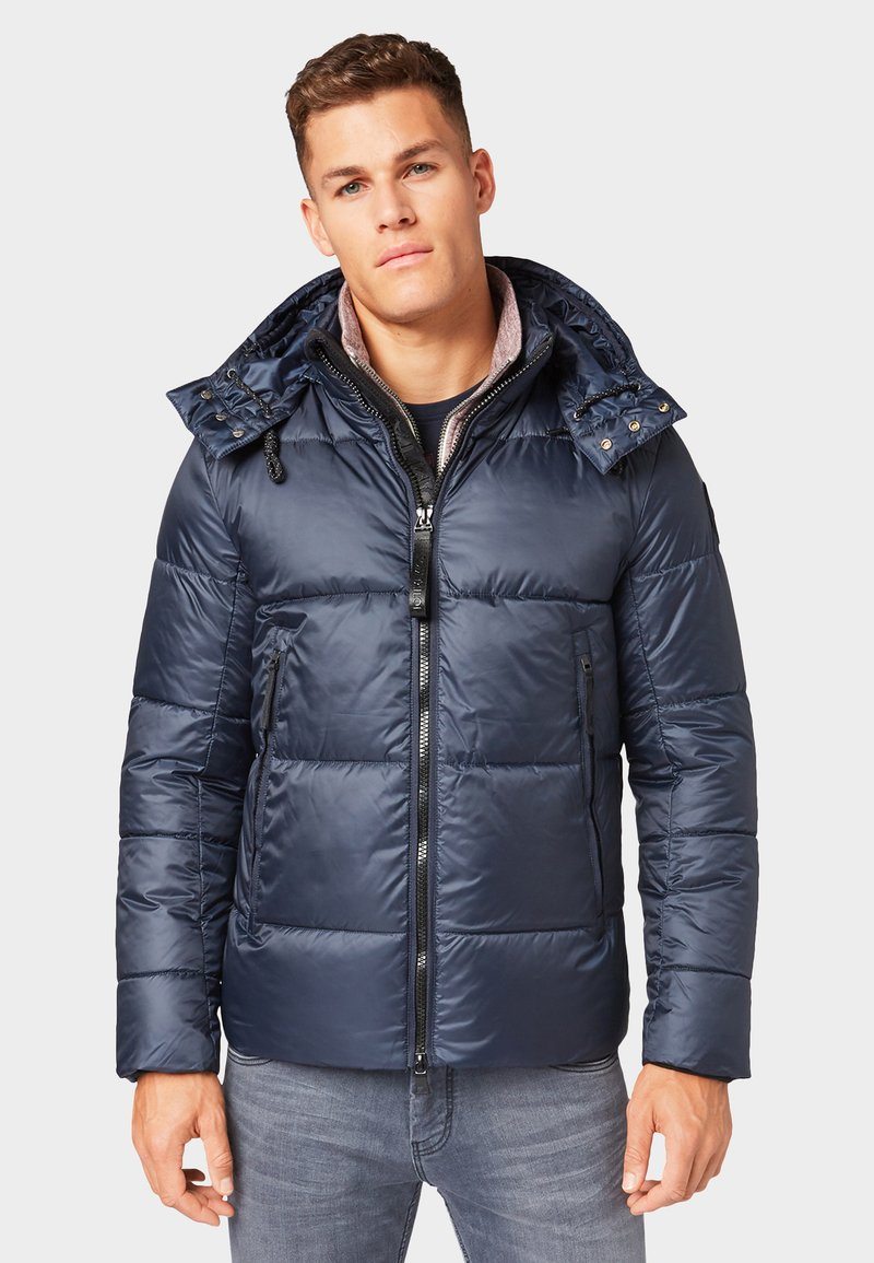 TOM TAILOR - MIT ABNEHMBARER KAPUZE - Winter jacket - sky captain blue