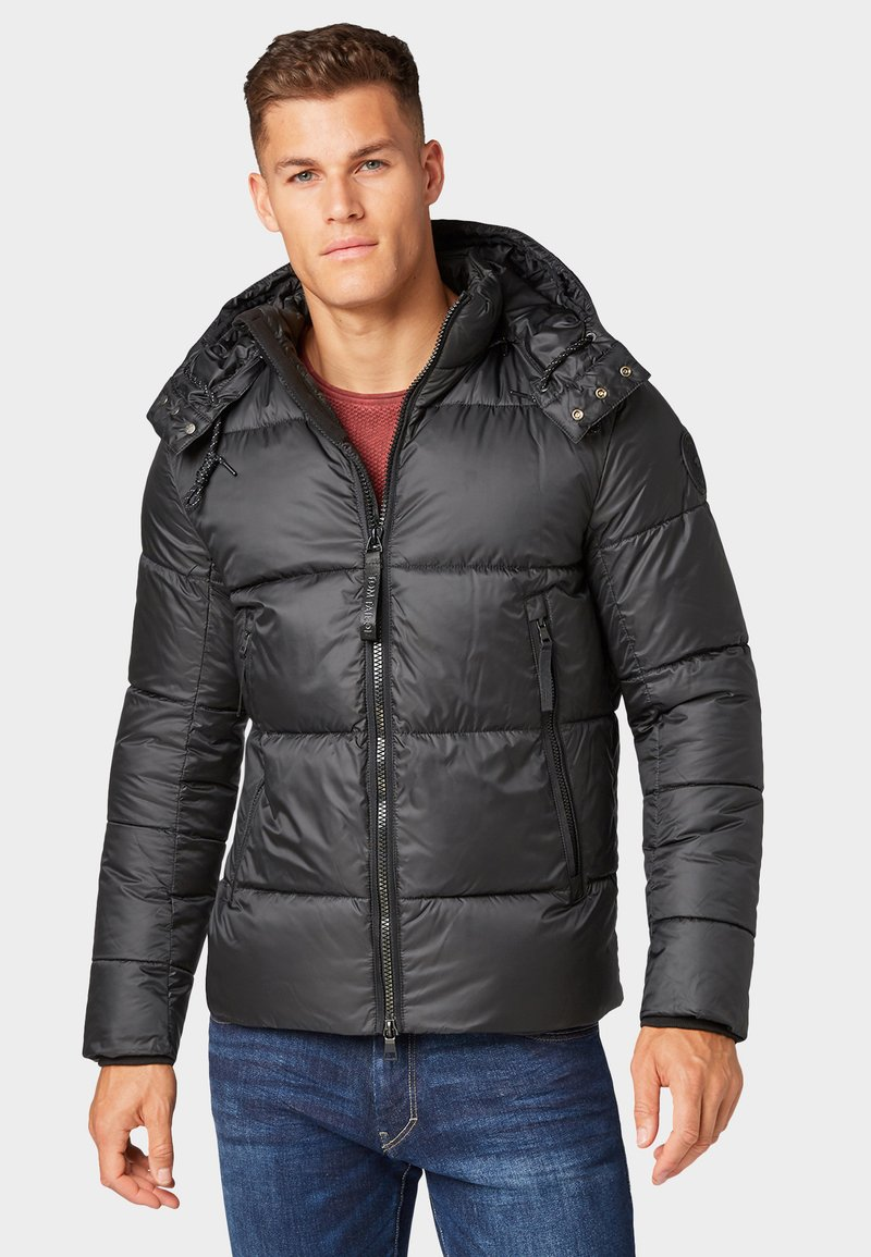 TOM TAILOR - MIT ABNEHMBARER KAPUZE - Winter jacket - black