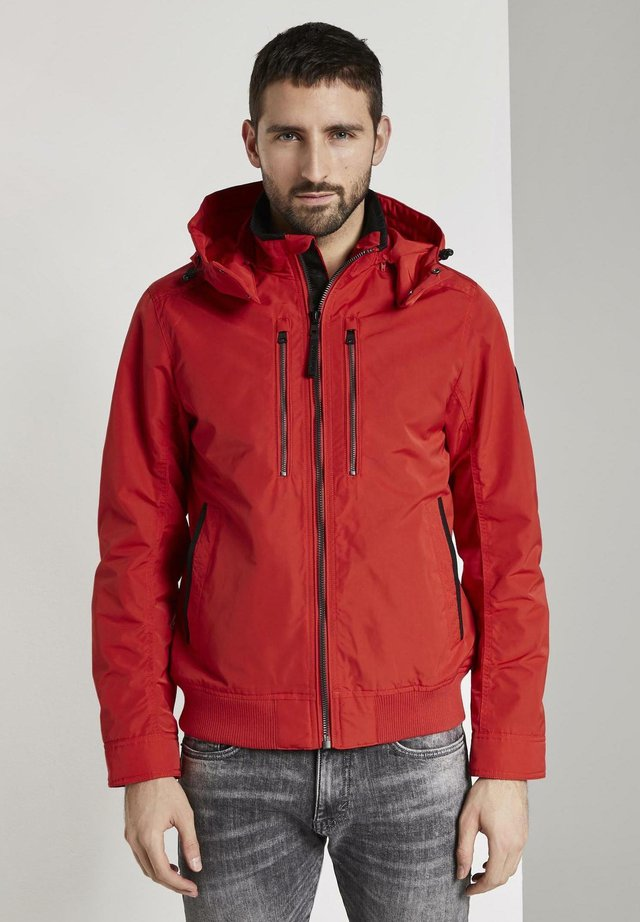 BLOUSON WITH ZIPPERS - Jas - brilliant red
