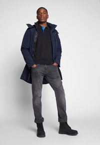 TOM TAILOR - Parka - black iris blue - 1