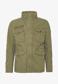 TOM TAILOR - WASHED FIELD JACKET - Summer jacket - olive night green - 3