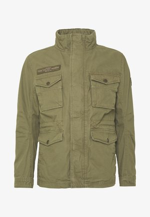 WASHED FIELD JACKET - Summer jacket - olive night green