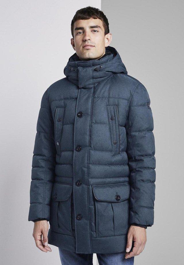 MIT ABNEHMBARER KAP - Wintermantel - dark blue
