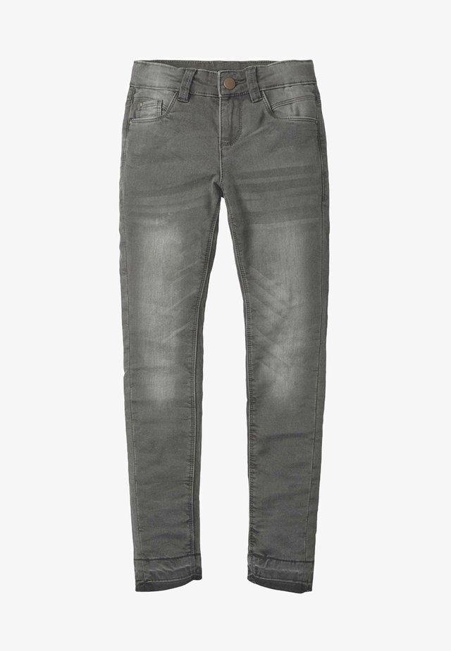 MIT AUSGEFRANSTEM SAUM - Straight leg jeans - grey denim