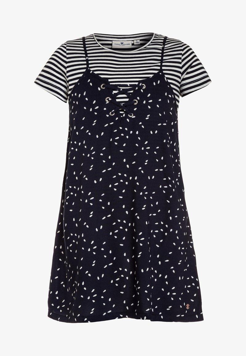 TOM TAILOR - DRESSES 2-IN-1 - Hverdagskjoler - dress blue/blue