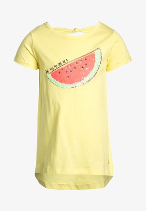Print T-shirt - limelight/orange