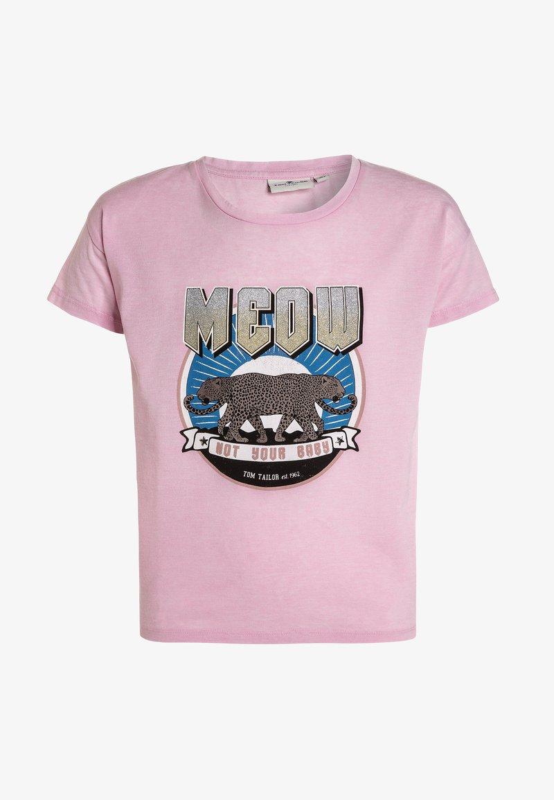 TOM TAILOR - T-shirts print - lilac sachet/rose