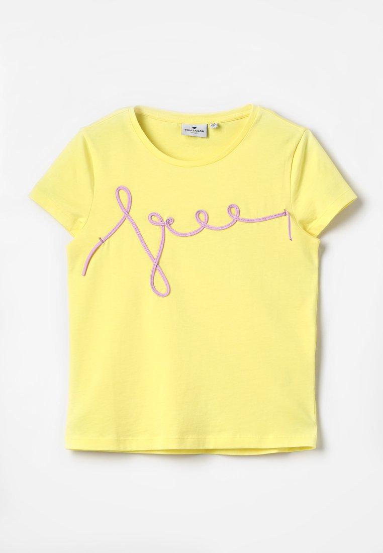 TOM TAILOR - T-shirts print - lemon verbenal/yellow