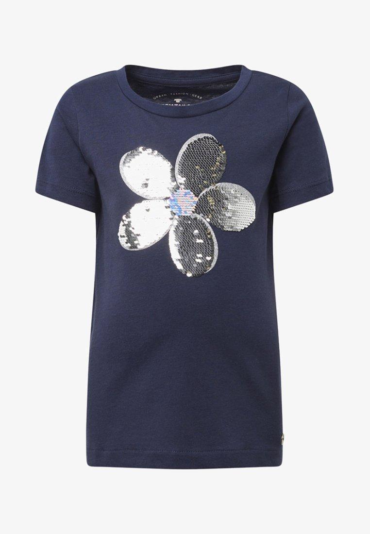 TOM TAILOR - T-shirt print - black iris/blue