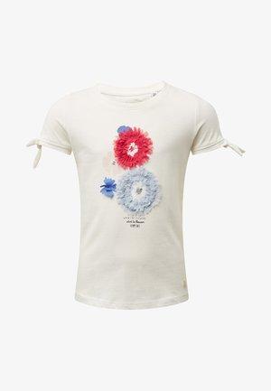 MIT BRUST-PRINT - T-shirt imprimé - white