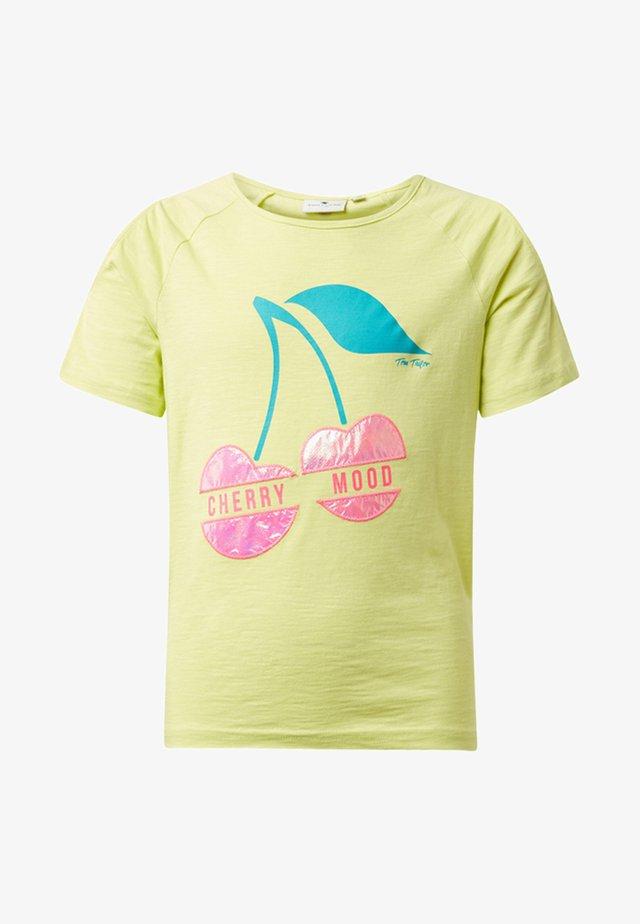 T-shirt print - sunny lime/green