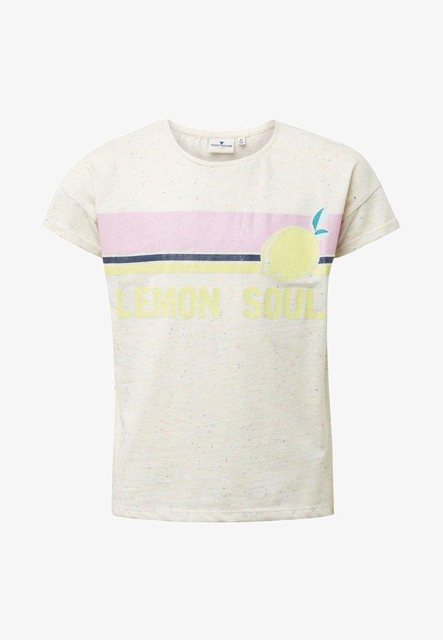 MIT PRINT - T-shirt print - white
