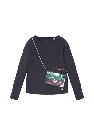 MIT WENDEPAILLETTEN - Longsleeve - night sky|blue