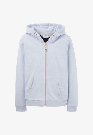TOM TAILOR STRICK & SWEATSHIRTS SWEATJACKE MIT RÜCKEN-PRINT - Zip-up hoodie - regatta blue