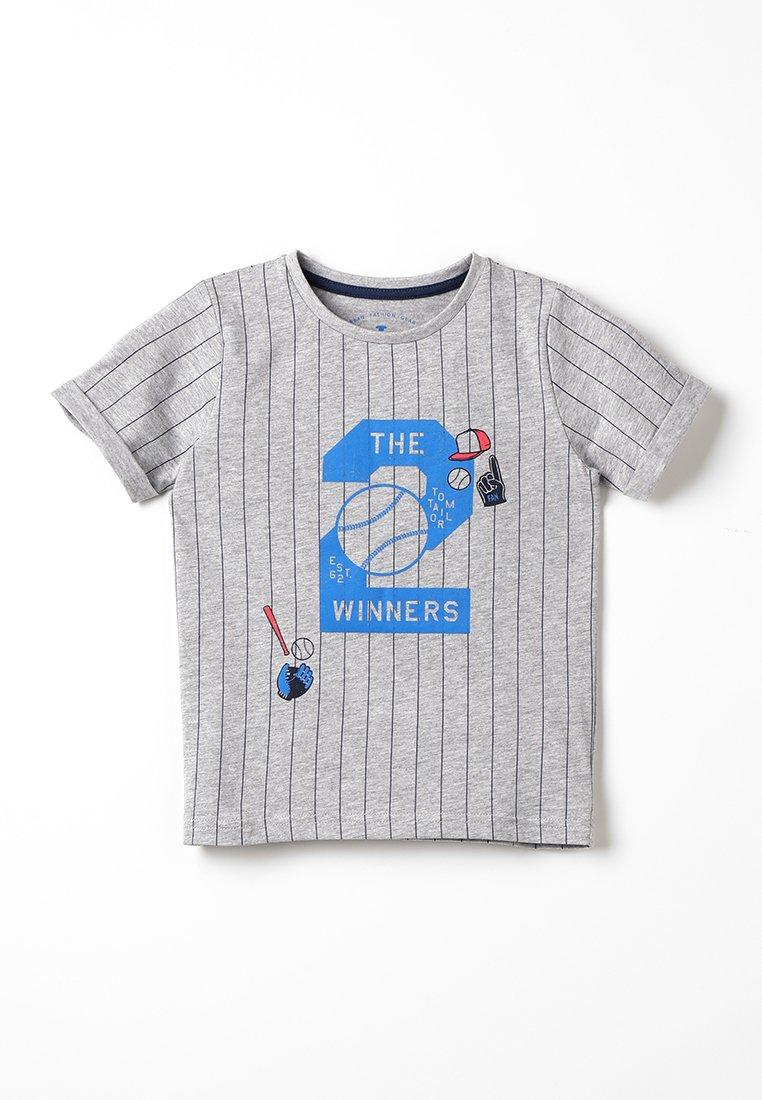 TOM TAILOR - STRIPED - Camiseta estampada - drizzle melange