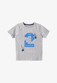 TOM TAILOR - STRIPED - Camiseta estampada - drizzle melange - 3