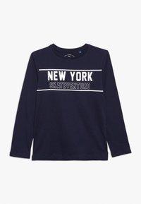 TOM TAILOR - PLACED PRINT - T-shirt à manches longues - dress blue - 0