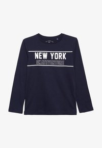 TOM TAILOR - PLACED PRINT - T-shirt à manches longues - dress blue - 2